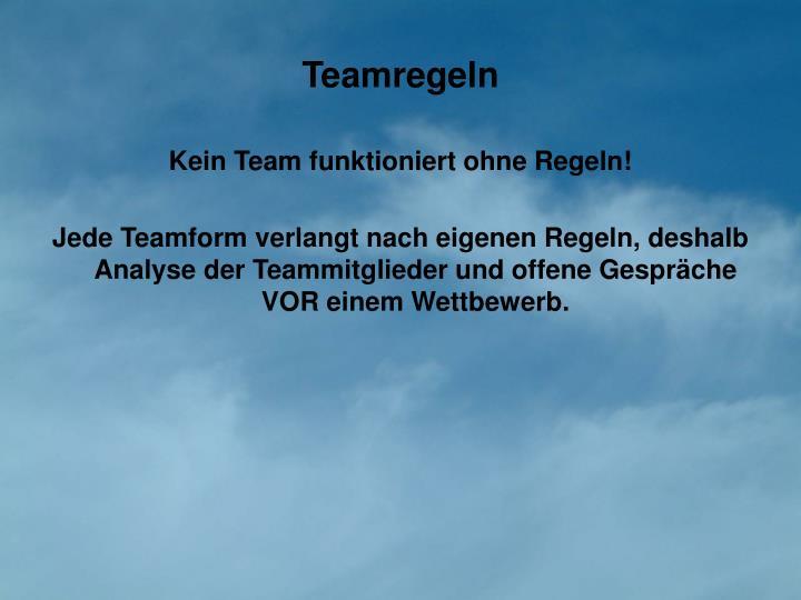 Teamregeln