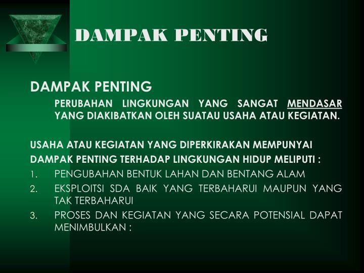 DAMPAK PENTING