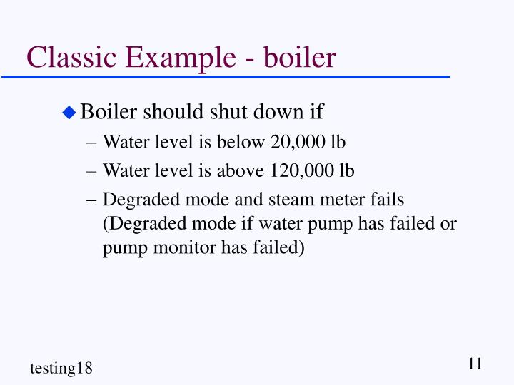 Classic Example - boiler