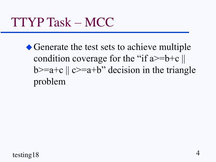 TTYP Task – MCC