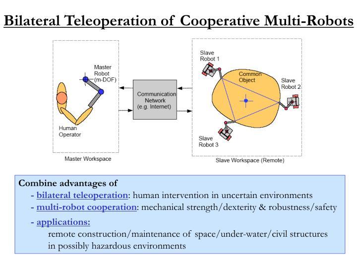 Bilateral Teleoperation of Cooperative Multi-Robots