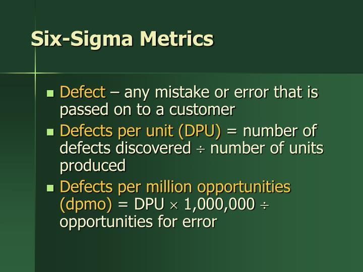 Six-Sigma Metrics