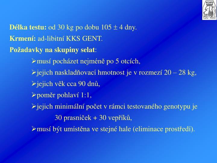 Délka testu:
