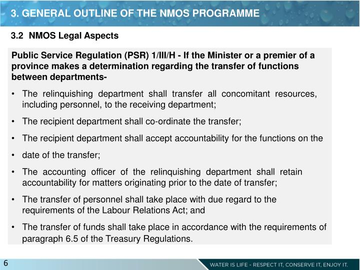 3. GENERAL OUTLINE OF THE NMOS PROGRAMME