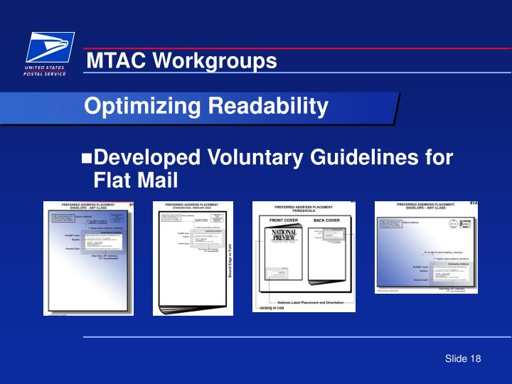 Developed Voluntary Guidelines for Flat Mail