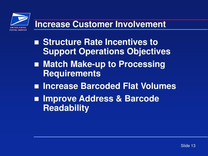 Increase Customer Involvement