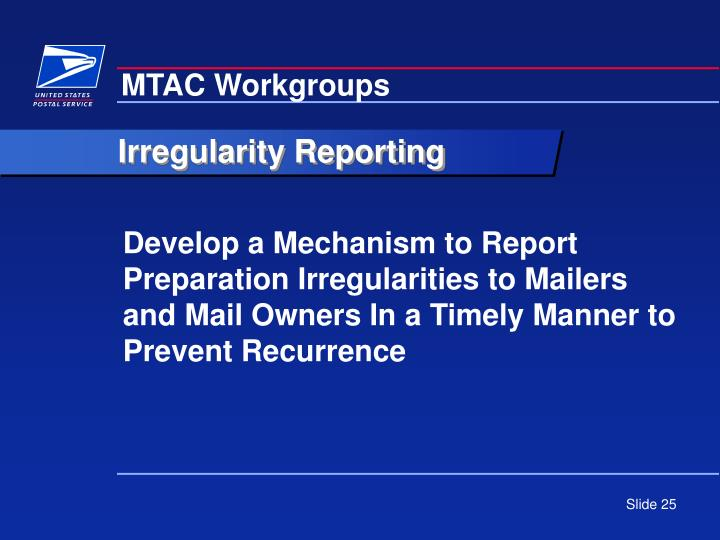 MTAC Workgroups