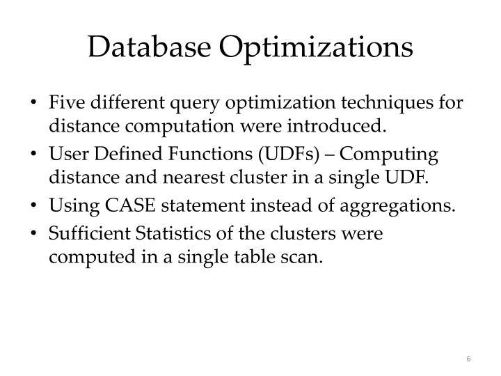 Database Optimizations