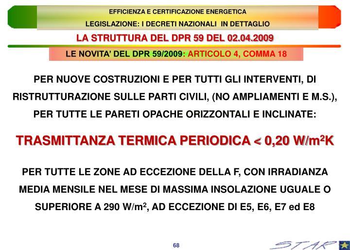 EFFICIENZA E CERTIFICAZIONE ENERGETICA