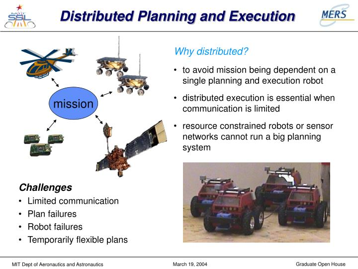 Distributed Planning and Execution