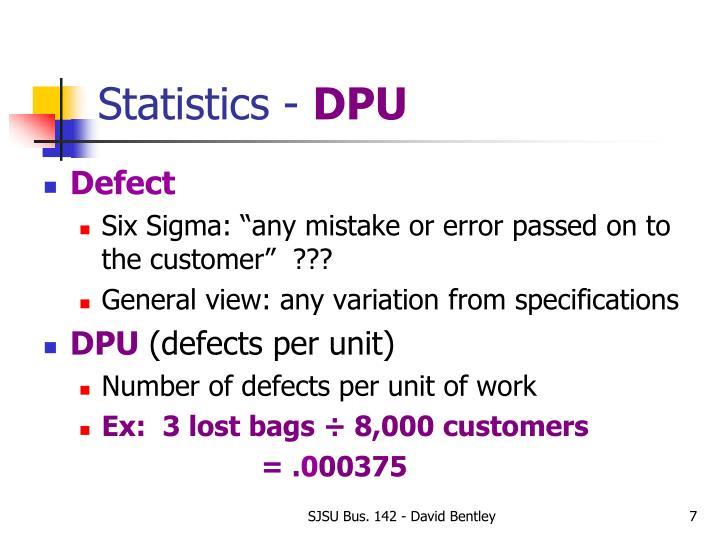 Statistics -
