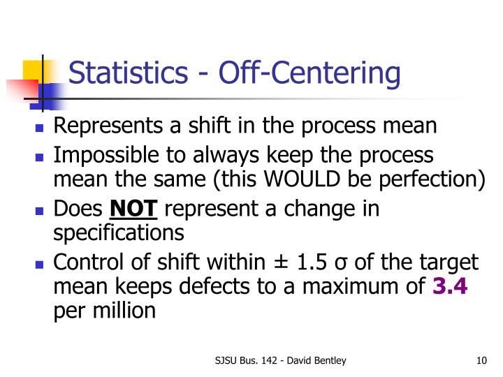 Statistics - Off-Centering