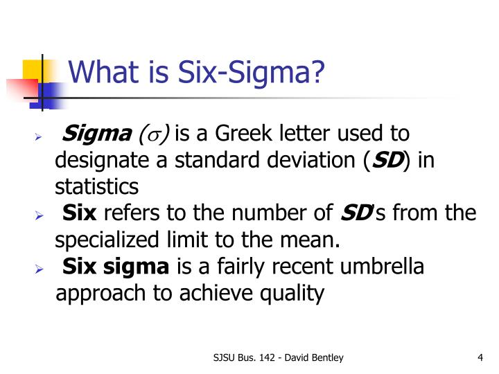What is Six-Sigma?