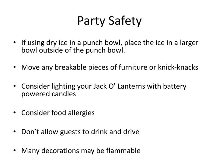 Party Safety