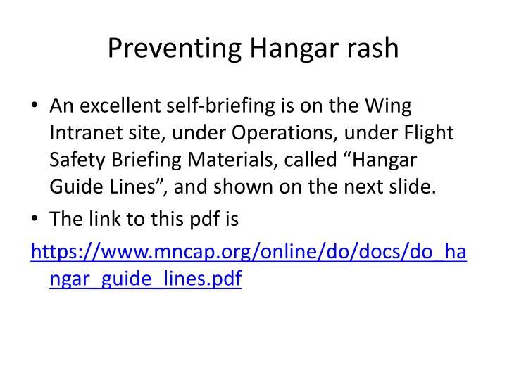 Preventing Hangar rash