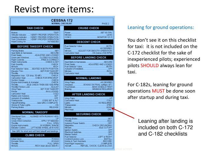 Revist more items:
