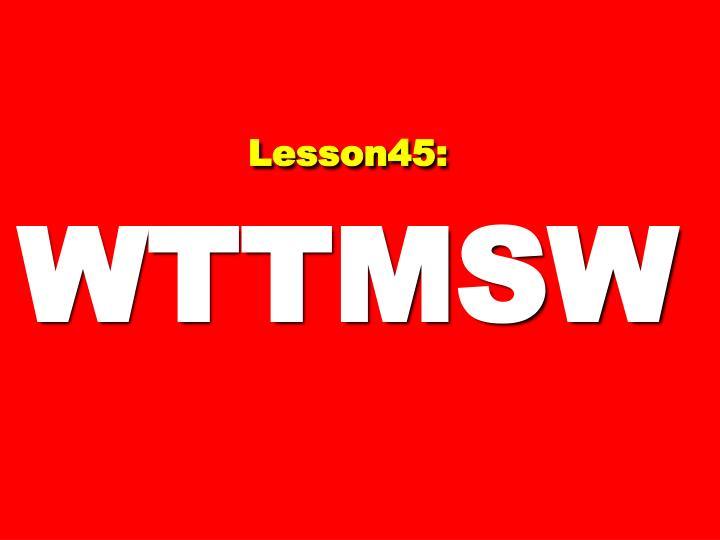 Lesson45: