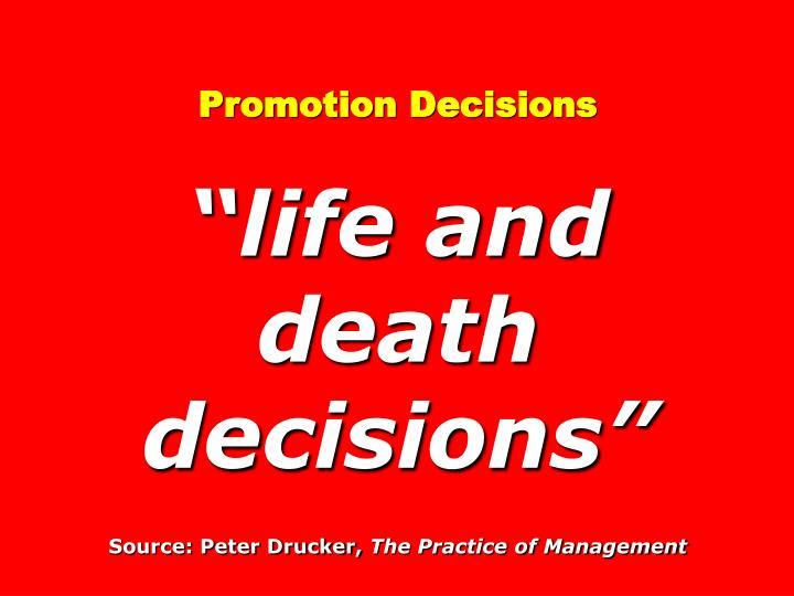 Promotion Decisions