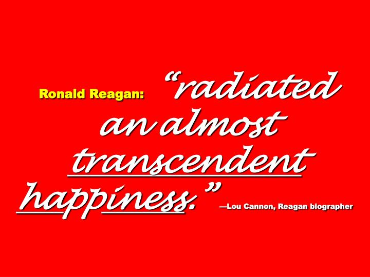 Ronald Reagan: