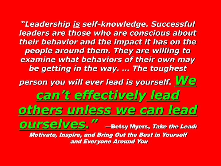 """Leadership"