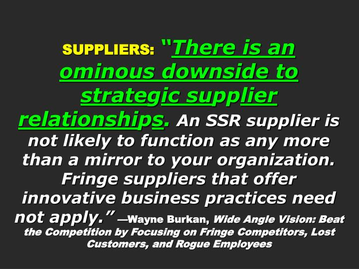 SUPPLIERS: