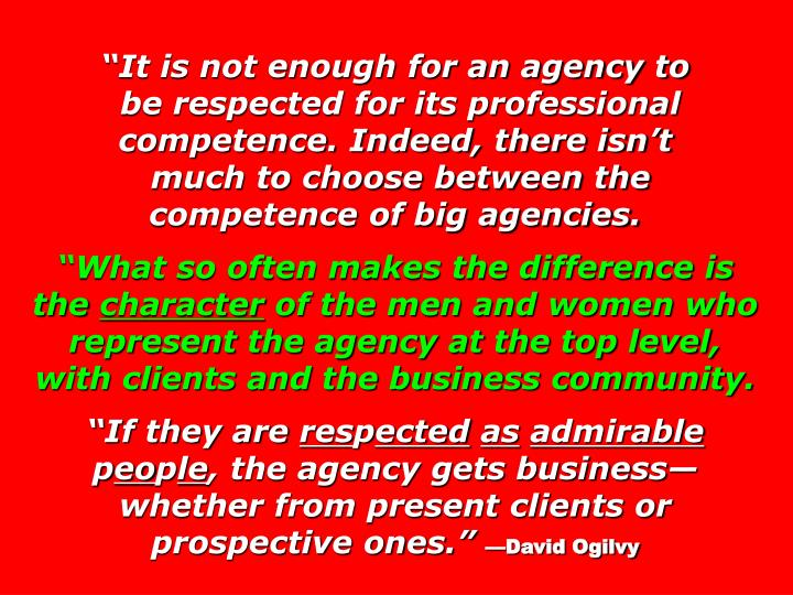 It is not enough for an agency to