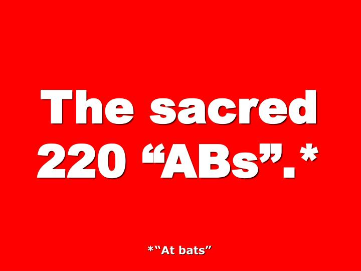 The sacred 220 ABs.*