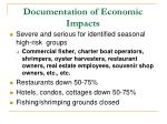 documentation of economic impacts