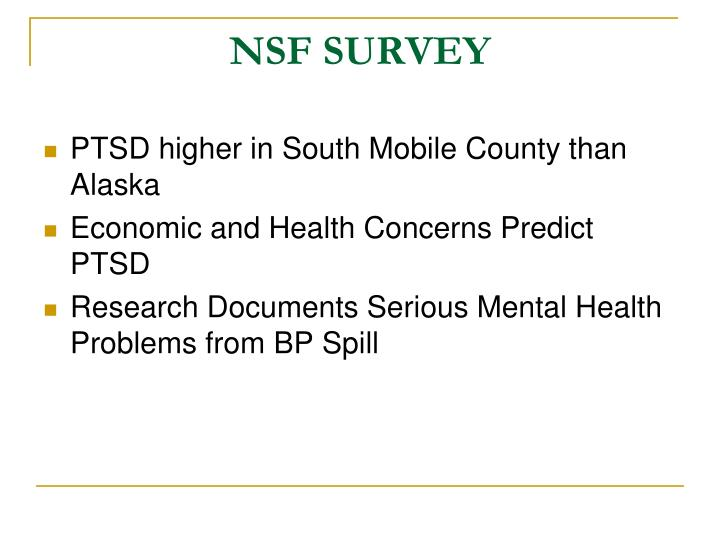 NSF SURVEY