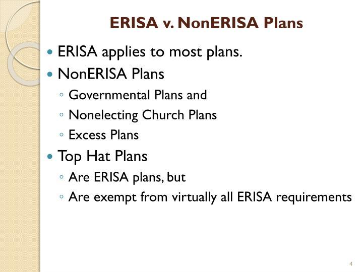 ERISA v. NonERISA Plans
