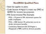 nonerisa qualified plans