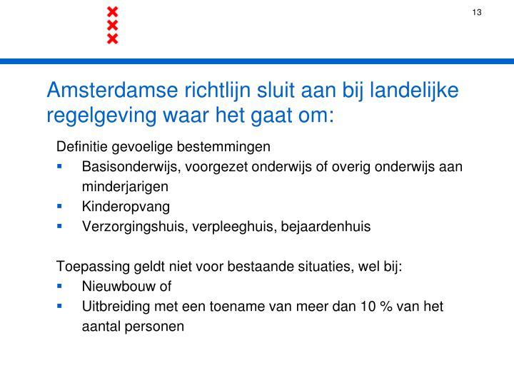 Amsterdamse richtlijn sluit aan bij landelijke regelgeving waar het gaat om: