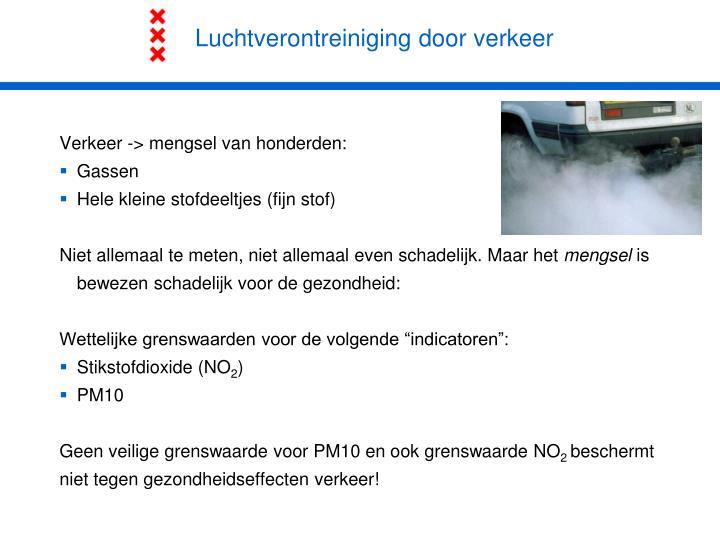 Luchtverontreiniging door verkeer