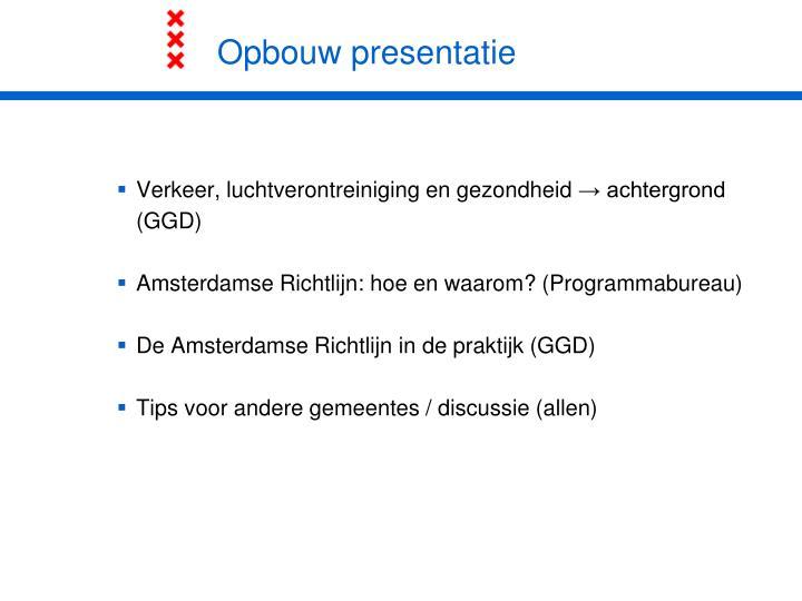 Opbouw presentatie