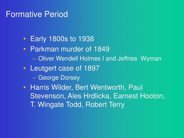 Formative Period