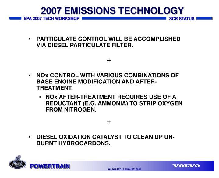 2007 EMISSIONS TECHNOLOGY