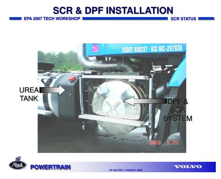 SCR & DPF INSTALLATION