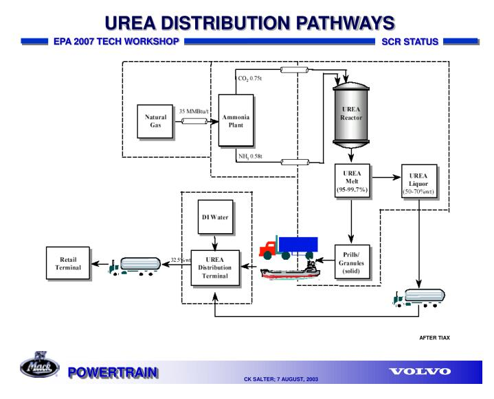 UREA DISTRIBUTION PATHWAYS