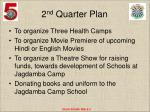 2 nd quarter plan