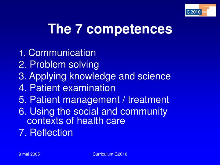 The 7 competences