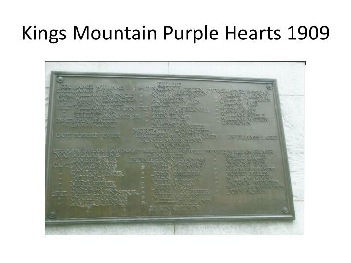 Kings mountain purple hearts 1909