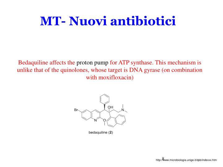 MT- Nuovi antibiotici