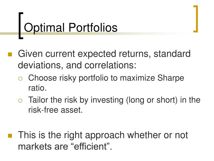 capital asset pricing model and optimal Drawn from the capital asset pricing model (capm) under risk, and from its many  varia-  we use the optimal solution to derive a robust version of the two-fund.