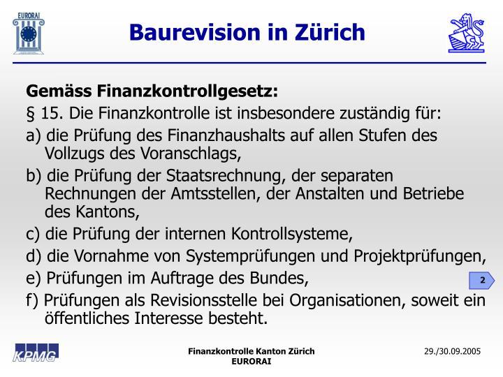 Gemäss Finanzkontrollgesetz: