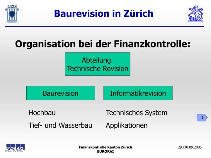 Organisation bei der Finanzkontrolle: