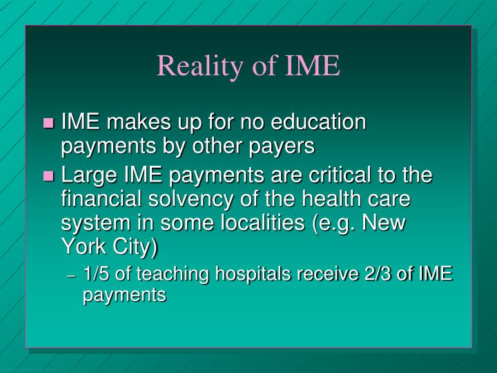 Reality of IME