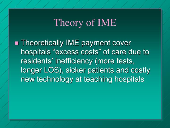 Theory of IME