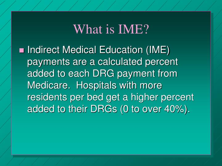 What is IME?