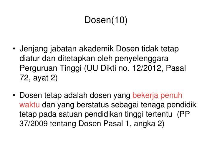 Dosen(10)
