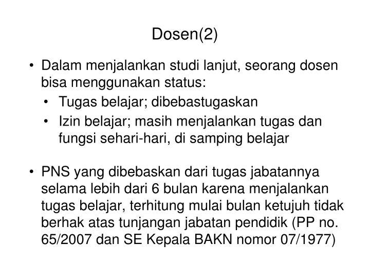 Dosen(2)